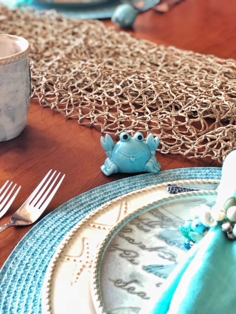 coastal table decor, coastal table, coastal decorations, Cracker Barrel Coastal Dinnerware, Coastal Home Decor, Coastal Dining Room, Beach Theme Kitchen, Beach Themed Decor, Coastal Living, Coastal Decorations, Beach Themed Plates, Mermaid Dishes