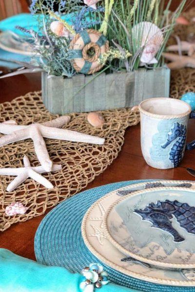Coastal Table Decor Ideas – Perfect Beach Theme Dinnerware
