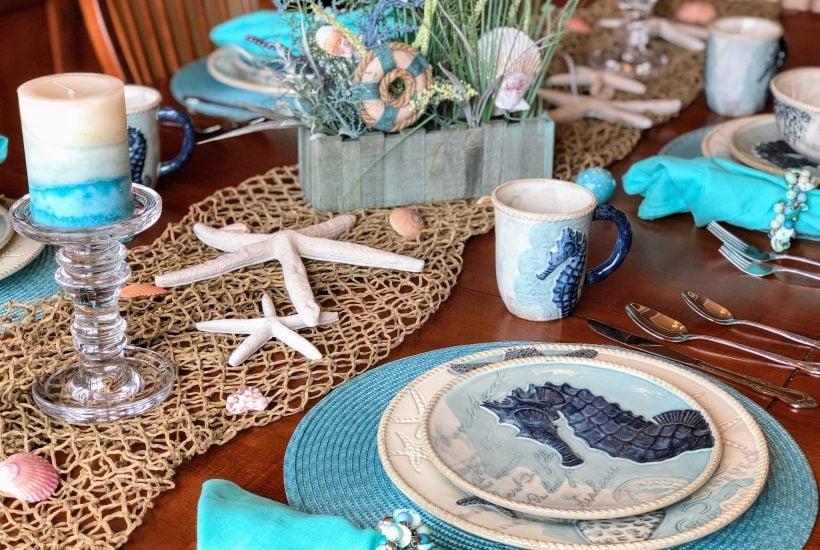 Er Barrel Coastal Dinnerware Home Decor Dining Room Beach Theme Kitchen