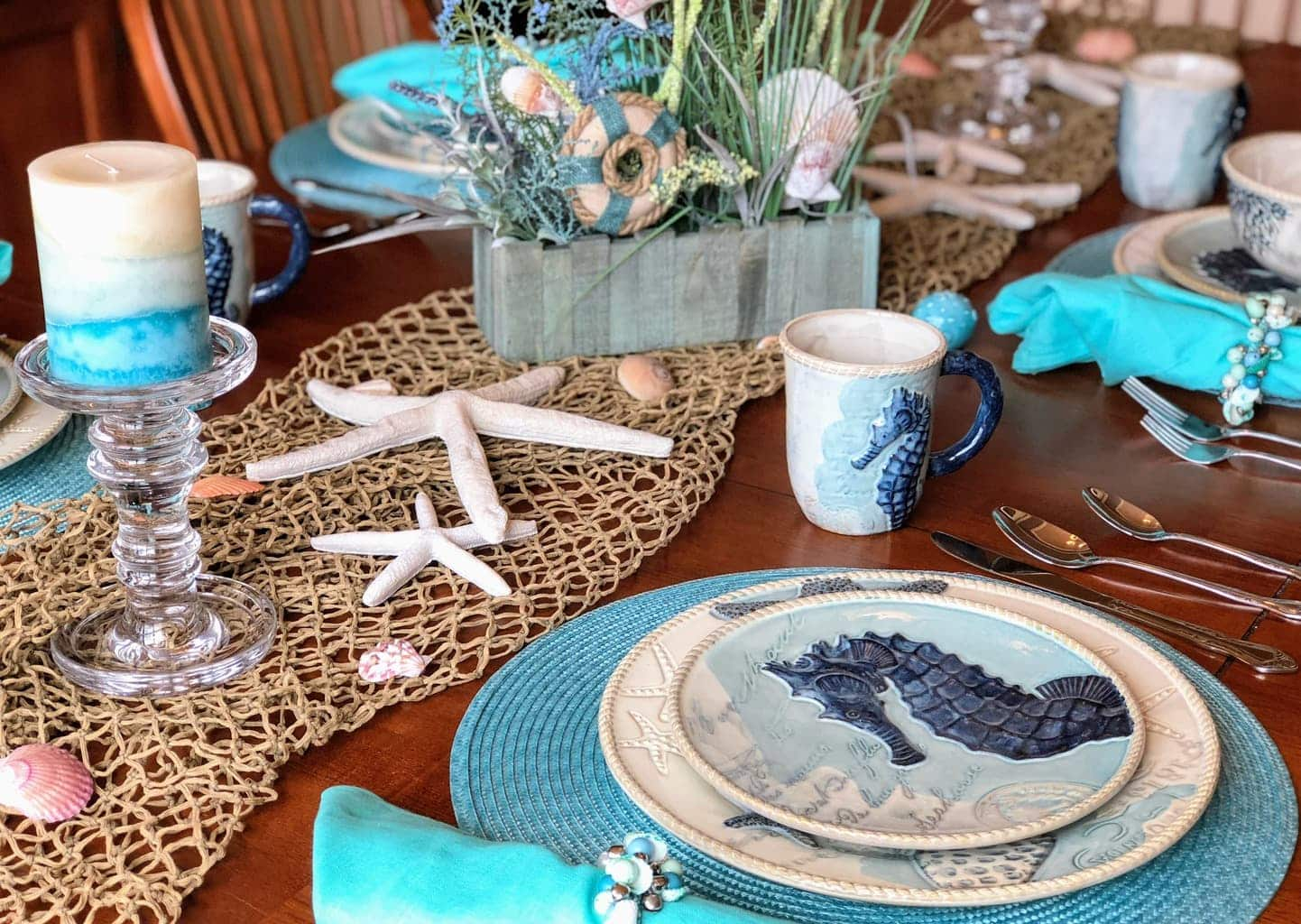Coastal Table Decor Ideas – Perfect Beach Theme Dinnerware