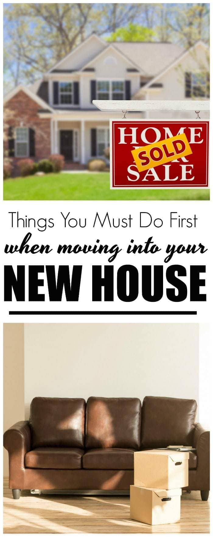 Becoming a brand new, first-time homeowner is such an exciting moment in your life. There's nothing quite as exciting as officially moving. Here is a checklist of things you need to do first after moving into your new house. #ad #NewHomeownersBBxx