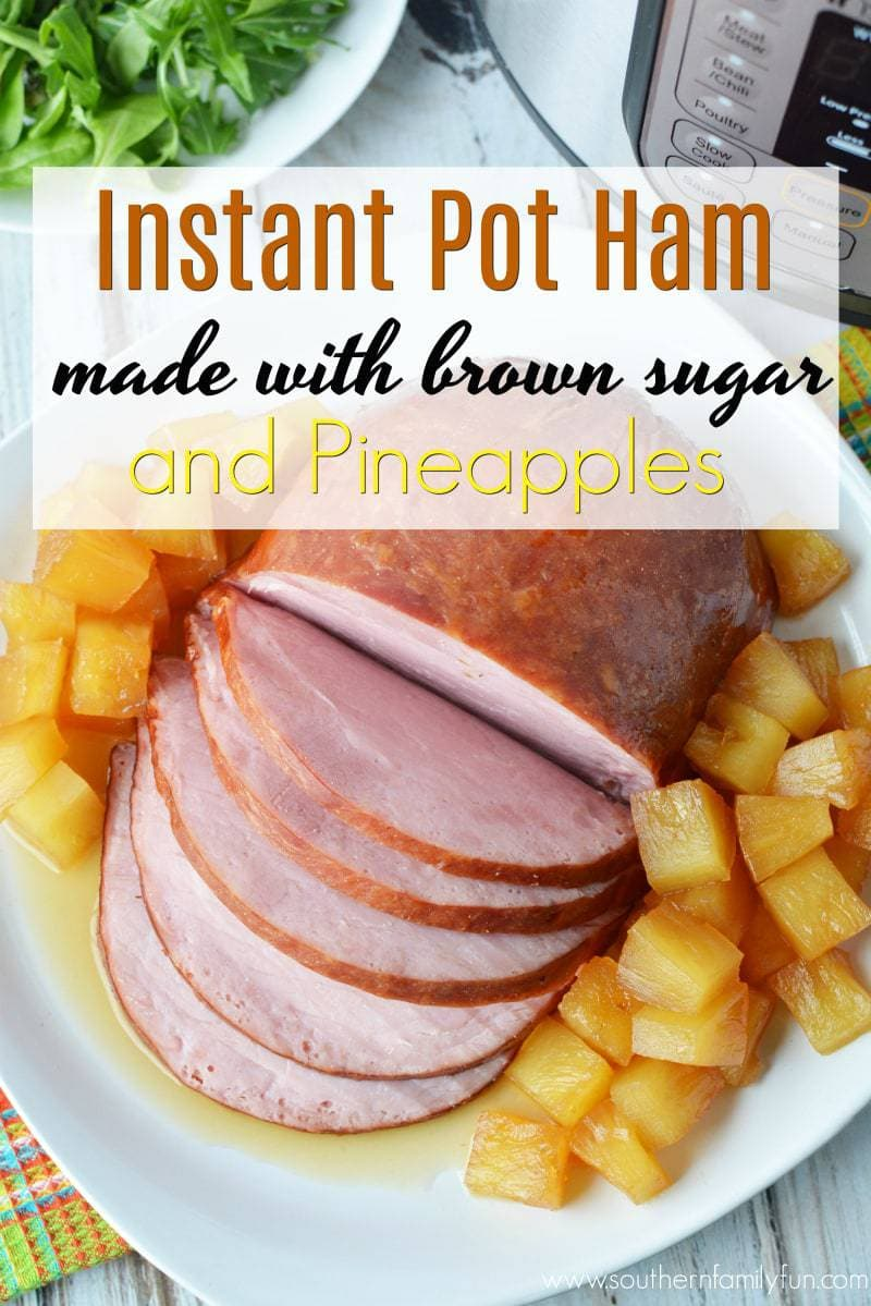 instant pot, instant pot recipes, instant pot ham, easter ham in instant pot, easter ham, ham with brown sugar, ham with pineapples