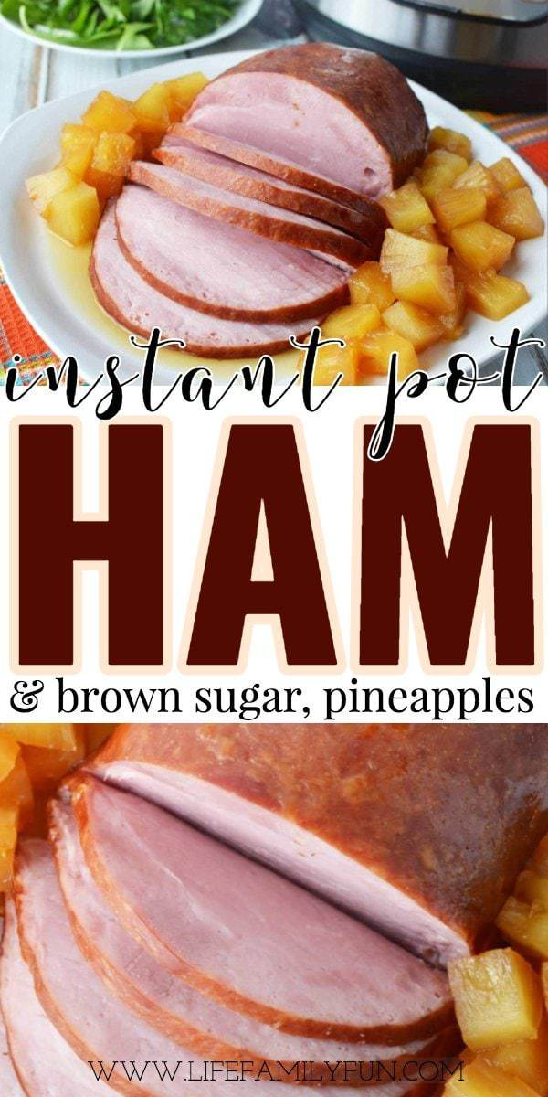 instant pot ham and brown sugar with pineapples