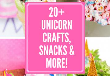 20+ Magical Unicorn Inspired Crafts, Snacks & DIY!