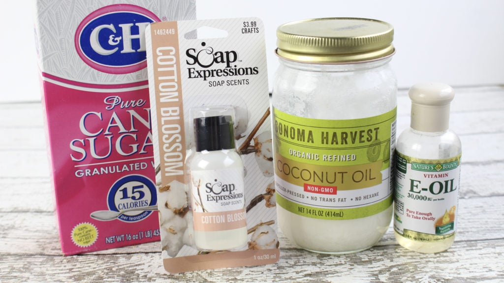 diy scrub, cotton blossom scrub, bath & body works copy cat scrub recipe, homemade diy scrubs, homemade scrub