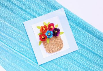 DIY Rolled Flower Basket Handmade Card – Perfect Gift for Mother's Day