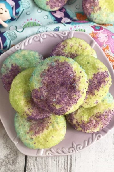 Mermaid Sugar Cookies, Mermaid Cookies, Mermaid Treats, Looking for some unique cookies to celebrate a summer-themed or mermaid themed birthday party? Or what about just a super simple recipe to create with your little one? However you want to make these Mermaid Sugar Cookies is up to you, just make certain that you give them a try! #MermaidCookies #MermaidBirthdayParty https://www.lifefamilyfun.com/mermaid-sugar-cookies/