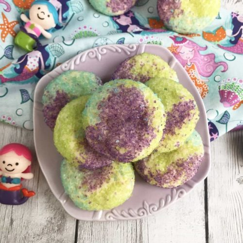 Mermaid Sugar Cookies, Mermaid Cookies, Mermaid Treats, Looking for some unique cookies to celebrate a summer-themed or mermaid themed birthday party? Or what about just a super simple recipe to create with your little one? However you want to make these Mermaid Sugar Cookies is up to you, just make certain that you give them a try! #MermaidCookies #MermaidBirthdayParty https://lifefamilyfun.com/mermaid-sugar-cookies/
