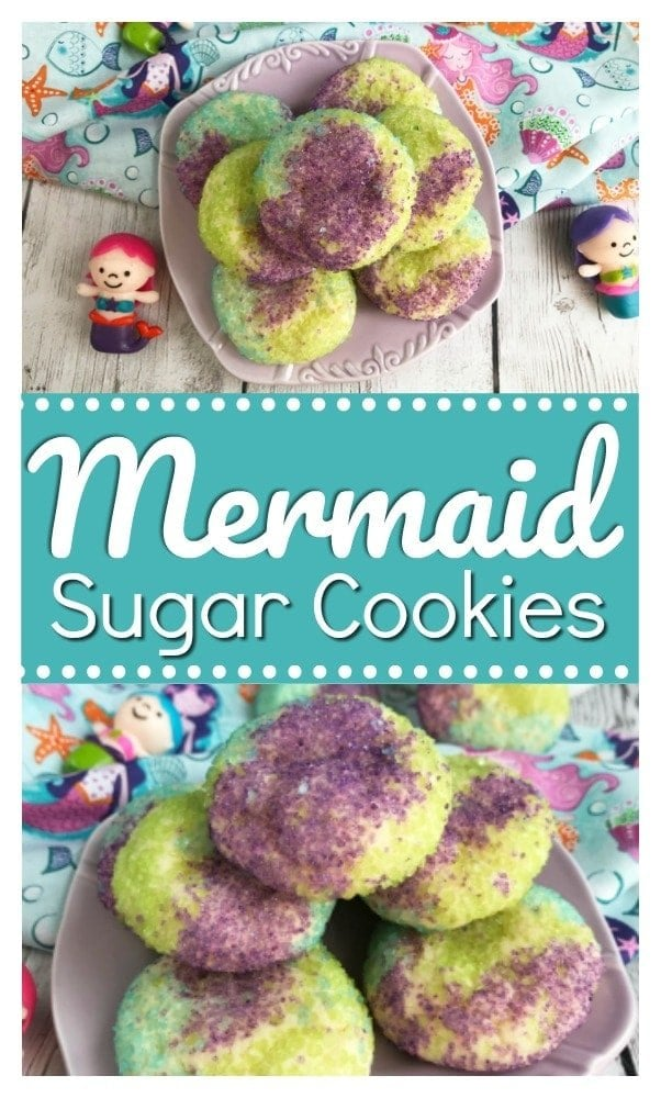Mermaid Sugar Cookies, Mermaid Cookies, Mermaid Treats