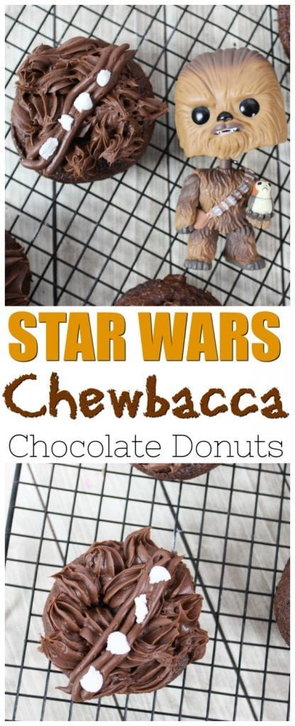 Chewbacca Cupcakes, Chewbacca Donuts, Chewbacca Recipes, Chewbacca Star Wars Recipes, Chewbacca Star Wars, Star Wars Chewbacca Recipes, In celebration of the upcoming Star Wars Movie, Solo: A Star Wars Story, learn how to make a batch of these delicious Chewbacca Donuts. May the 4th be with you. #ChewbaccaDonuts #StarWars