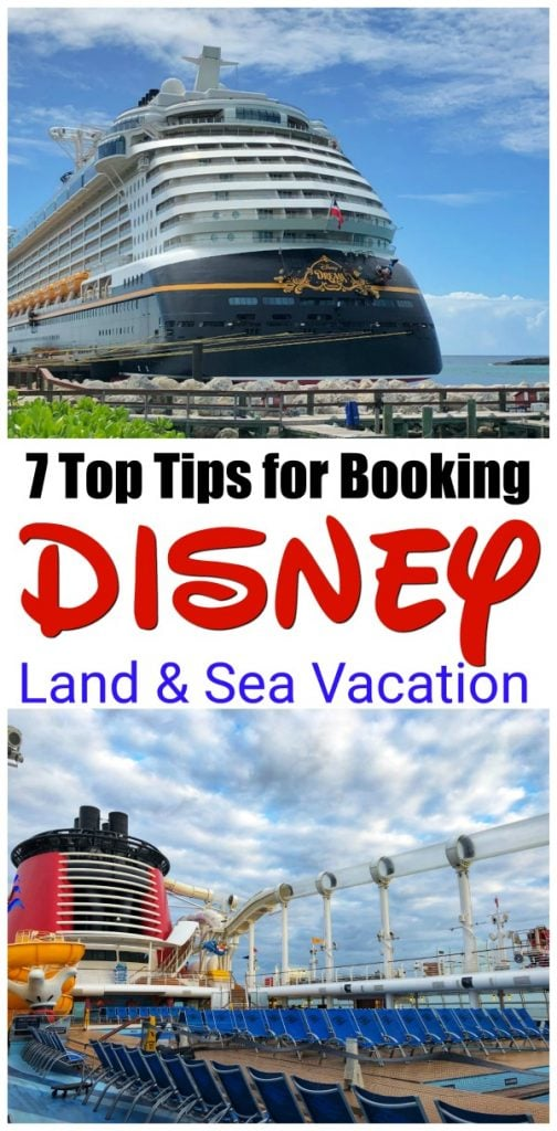 disney dream, disney cruise, disney land and sea, disney land sea, disney cruise vacation, tips for planning disney cruise. Taking a Disney land and sea vacation can be a trip of a lifetime. You can visit the parks for a few days and then hit the high seas for a 3, 5, or 7 day cruise on one of Disney's fabulous cruise ships! You will get the best of both worlds in one trip. #DisneyCruise #DisneySMMC #DisneyLandandSea #DisneyVacation
