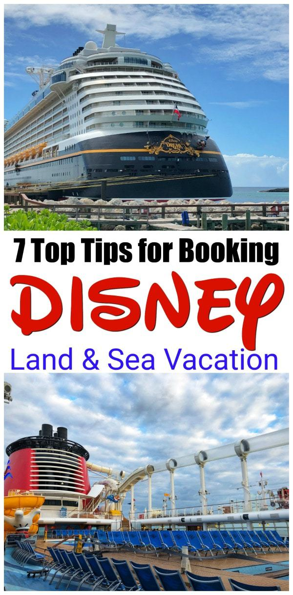 Taking a Disney land and sea vacation can be a trip of a lifetime. You can visit the parks for a few days and then hit the high seas for a 3, 5, or 7 day cruise on one of Disney's fabulous cruise ships! You will get the best of both worlds in one trip. #DisneyCruise #DisneySMMC #DisneyLandandSea #DisneyVacation