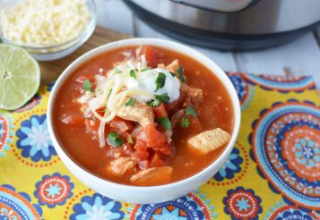 Instant Pot Chicken Taco Soup With Tortillas: Easy Dinner Made In 10 Minutes