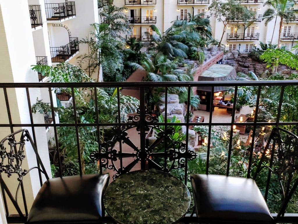 balcony room of gaylord opryland, nashville hotel
