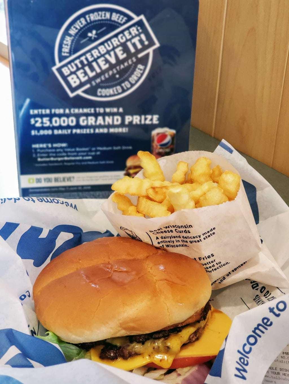butterburger, culver's, butterburger believe it sweepstakes, hamburger month