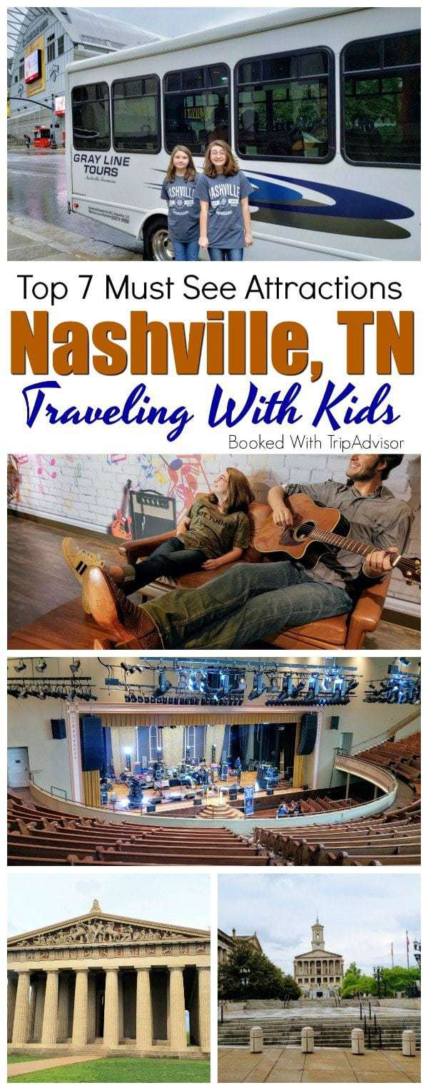 Is this the first time traveling to Nashville and you are looking for things to do with your kids? We have narrowed it down to our top 7 must see Nashville attractions when traveling with kids. #TripAdvisorPartner #Nashville https://www.southernfamilyfun.com/nashville-attractions-traveling-kids/