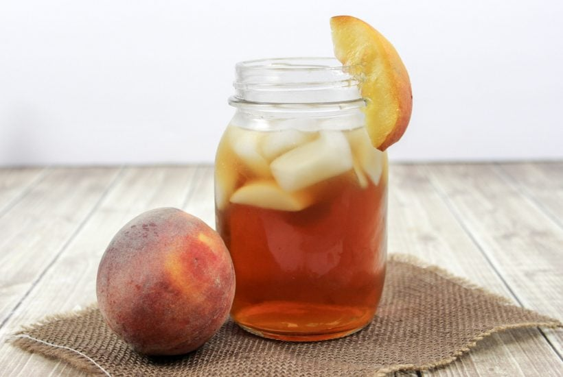 Bourbon Peach Tea, Alcoholic Peach Tea, Peach Cocktail