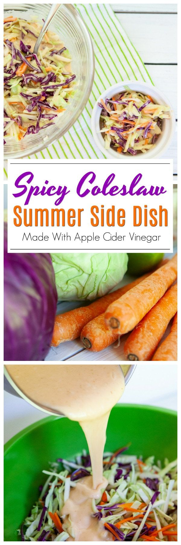 When it comes to the summertime months and food items that are a staple in so many homes, this Spicy Summer Slaw needs to be added to the list.Not only is slaw one of those foods that truly goes perfectly with anything and everything BBQ, but the added kick of that spicy flavor sends this over the top. #SpicySlaw #SummerSlaw