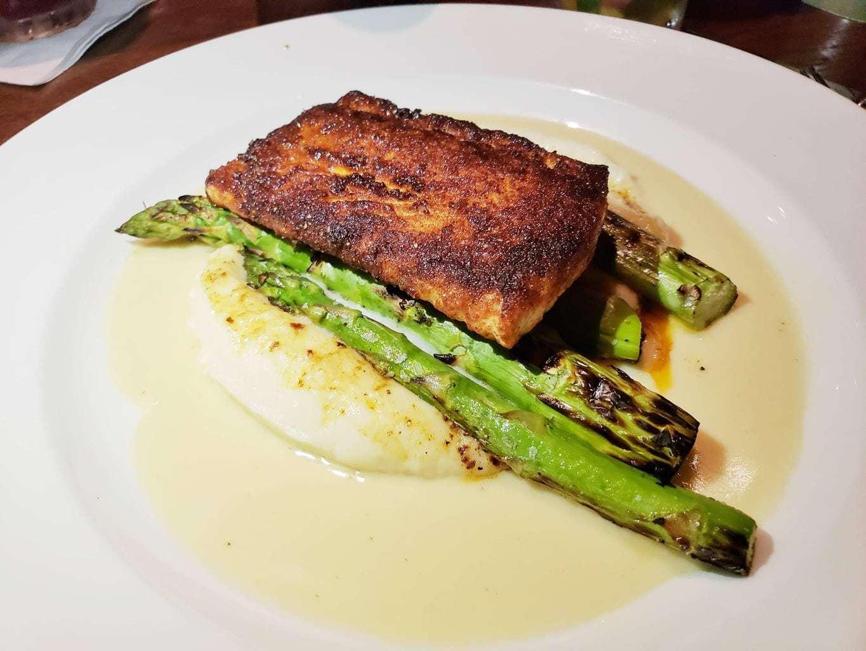 Loved & Rubbed Scottish Salmon, Grand Marlin Restaurant