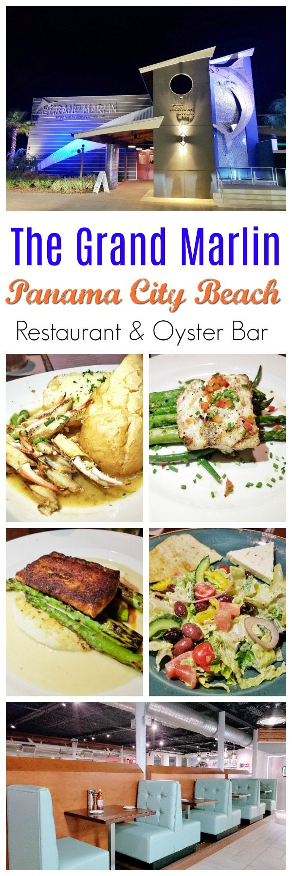 """The Grand Marlin: If you are looking for a restaurant that truly puts the """"fresh"""" in fresh seafood, The Grand Marlin Restaurant & Oyster Bar is where you need to go.It is the perfect melting pot for tourists and locals to all come together and enjoy the excellent flavors of the perfectly cooked food. #GrandMarlin #PanamaCityBeach"""