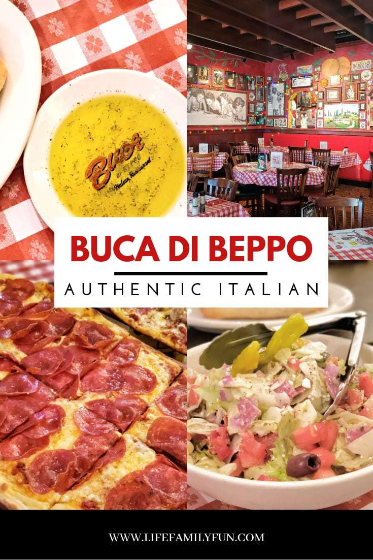 From appetizers to salads, and entree's, you're certain to love all the choices at Buca di Beppo. Start your meal with their perfectly fried calamari and then order a perfectly cooked Spicy Arrabbiata pizza to share. Your table will not go hungry will everything that can be eaten. Don't forget to save room for dessert! With choices like homemade cheesecake and gelato, it's the perfect ending to a perfectly authentic Italian meal. #BucadiBeppo #OrlandoRestaurants