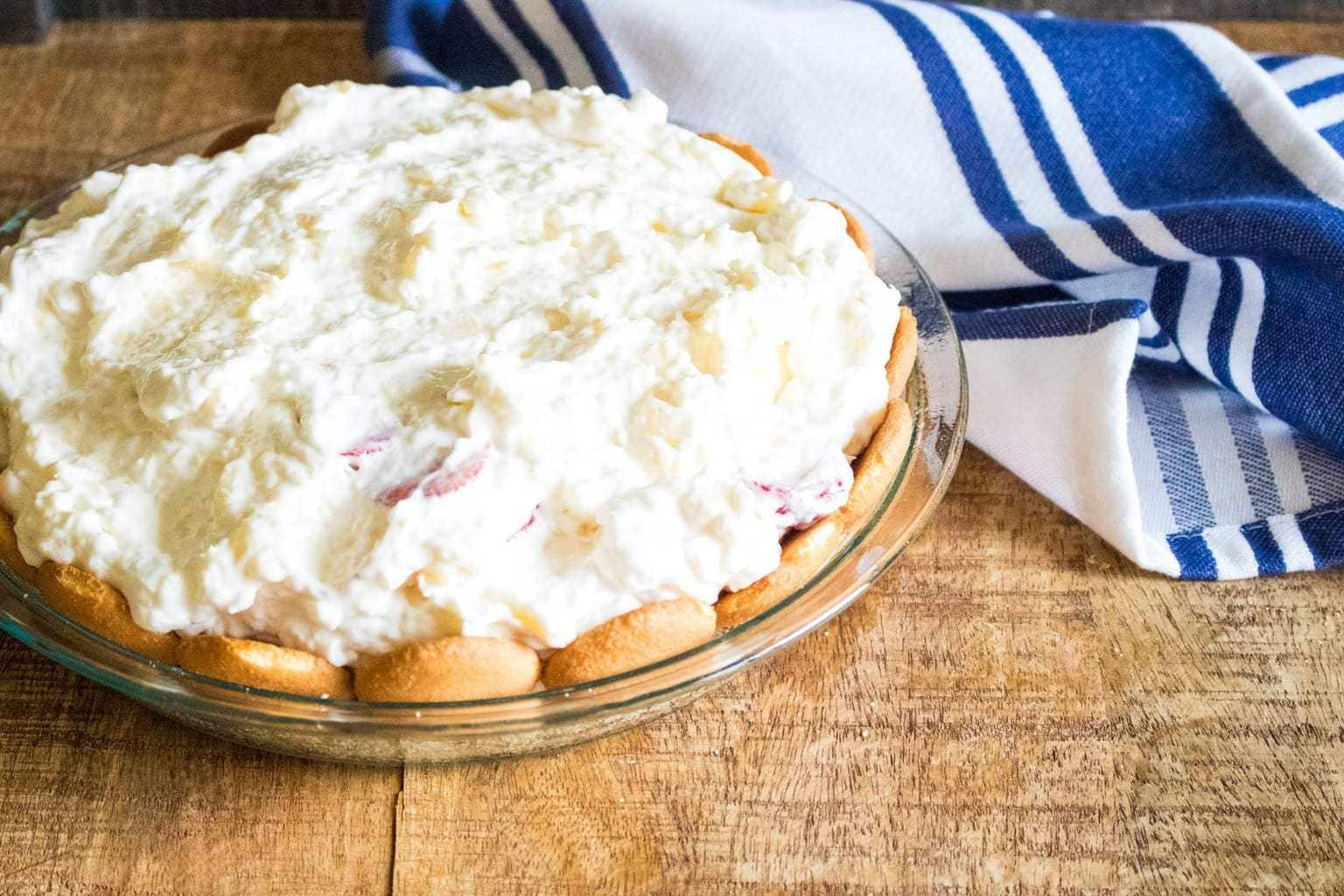 no-bake tropical cream pie