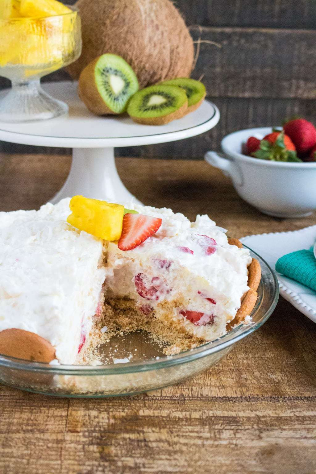 No bake cream pie, no-bake tropical cream pie
