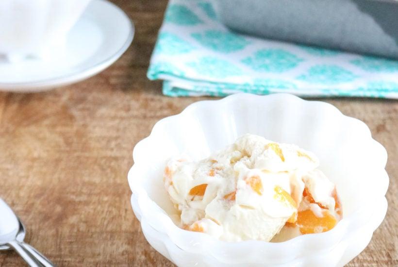 no churn peach pie ice cream