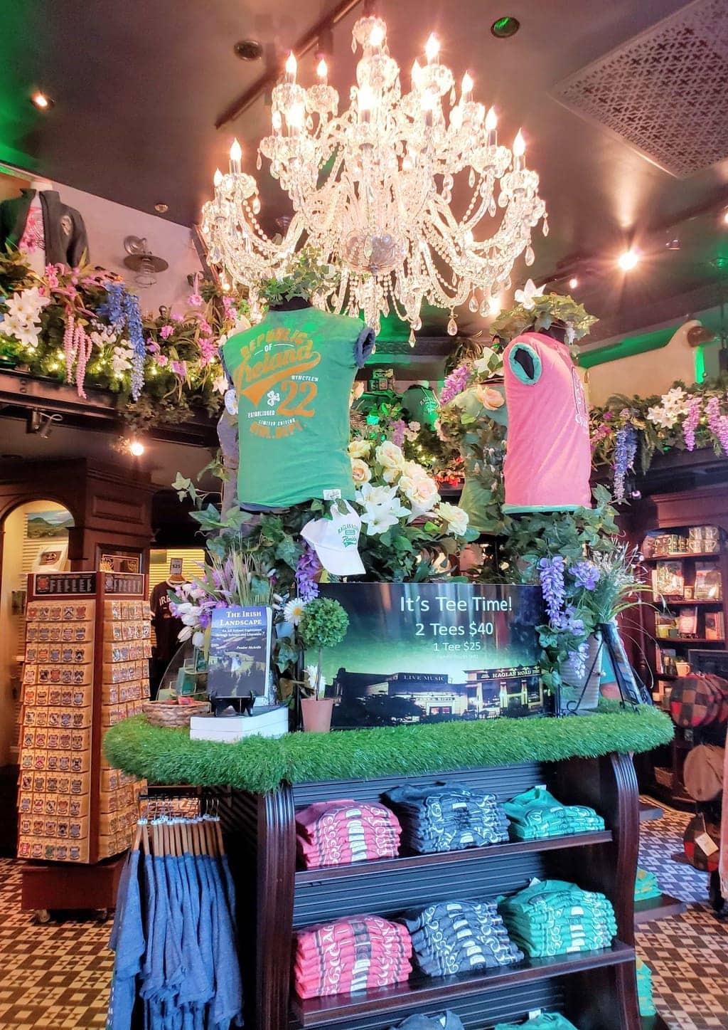 Raglan Road Irish pub gift shop, where to buy gifts from Ireland , disney shopping, shopping in disney springs