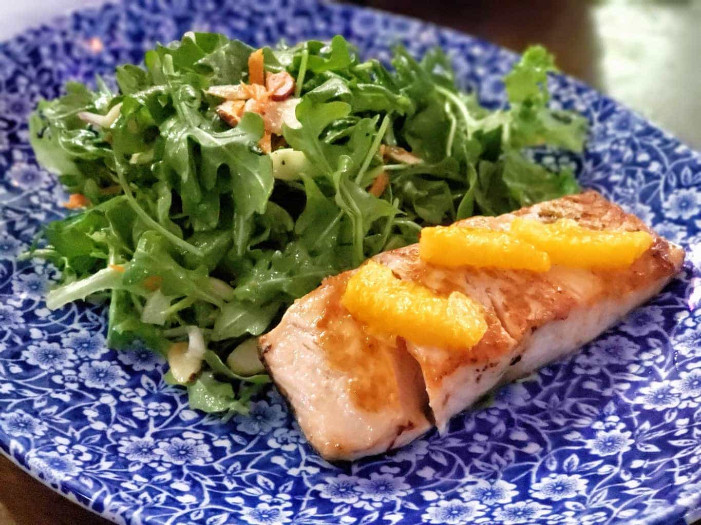 Raglan Road Irish pub Citrus Salmon Salad