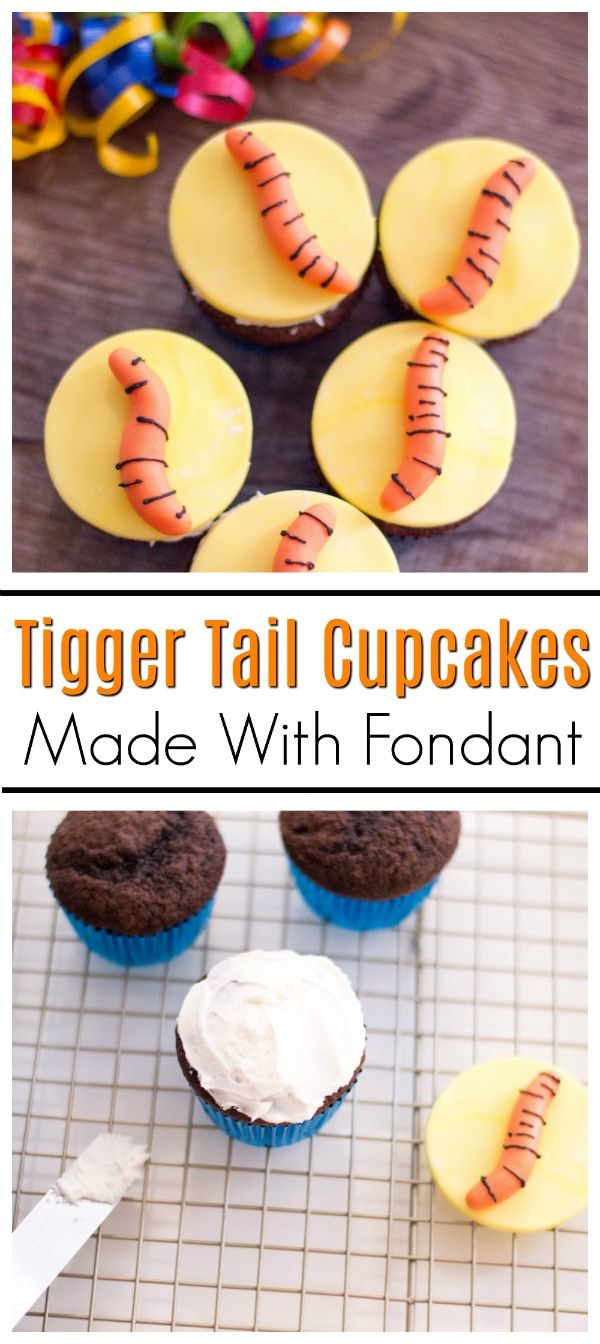 Tigger Tail Cupcakes inspired by Winnie the Pooh
