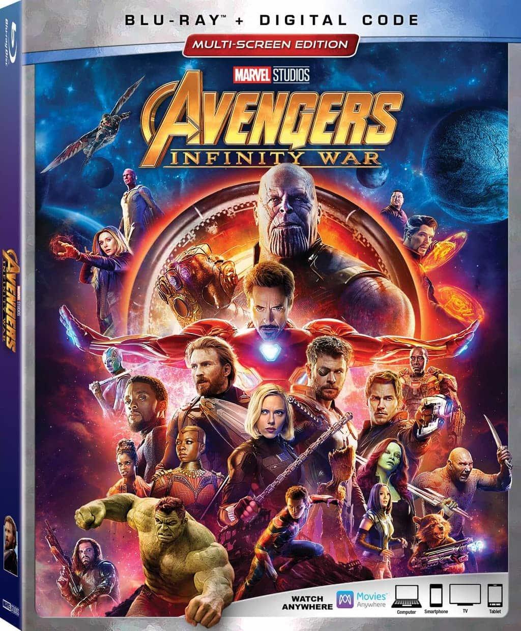 Avengers Infinity War BluRay and DVD