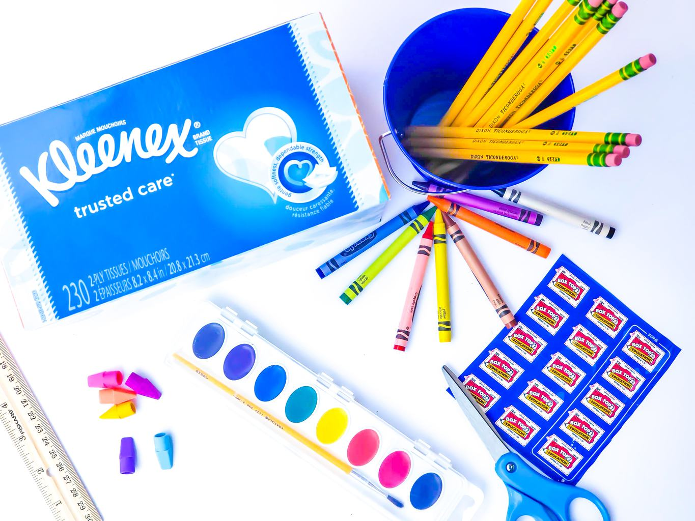 School Supplies, Help Teachers Stock Their Classrooms, Box Tops Helps Provide Classrooms with Much Needed School Supplies, Extra Box Top bonuses with Kleenex