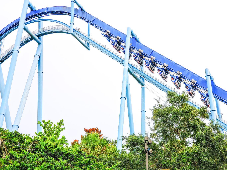 manta flying roller coaster at sea world in Orlando