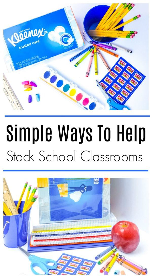 #AD Do you collect Box Tops for Education labels for your children's school? If you have the means to help your child's school and classroom, why not? Here are simple ways you can help stock your child's classroom this school year. #KleenexClassroomHero https://www.lifefamilyfun.com/stock-classrooms-with-school-supplies
