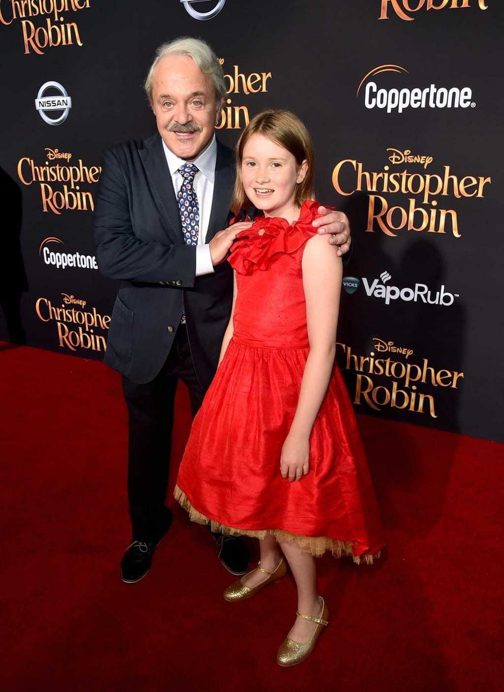 Bronte Carmichael and Jim Cummings at Disney's Red Carpet for Christopher Robin