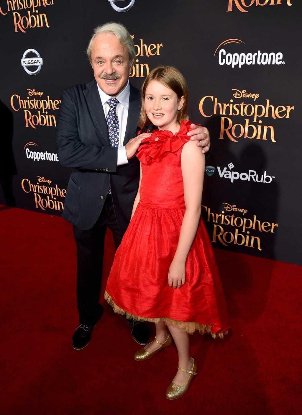 Bronte Carmichael and Jim Cummings at Disney's Red Carpet for Christopher Robin