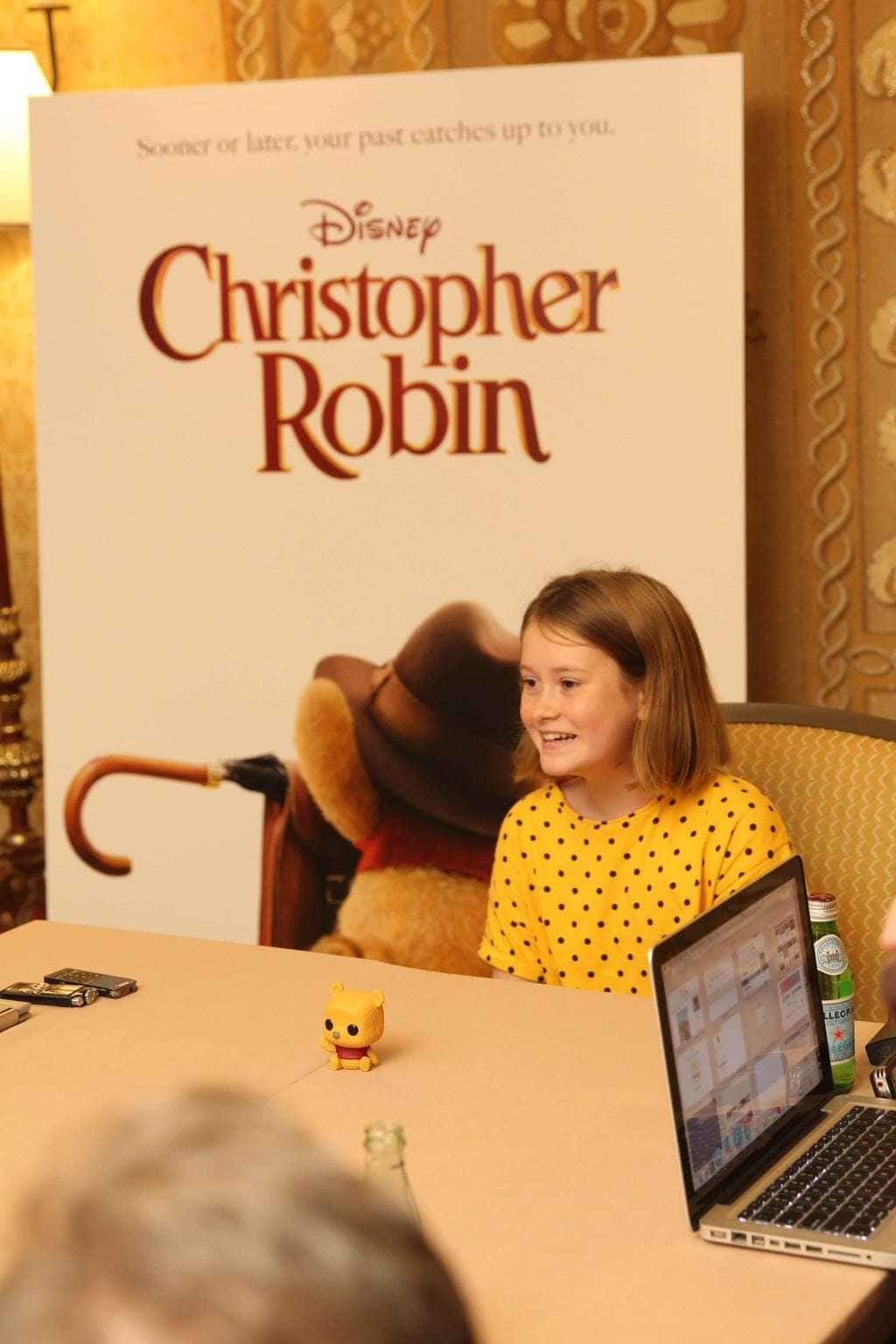 interview with Bronte Carmichael, Bronte Carmichael in Christopher Robin