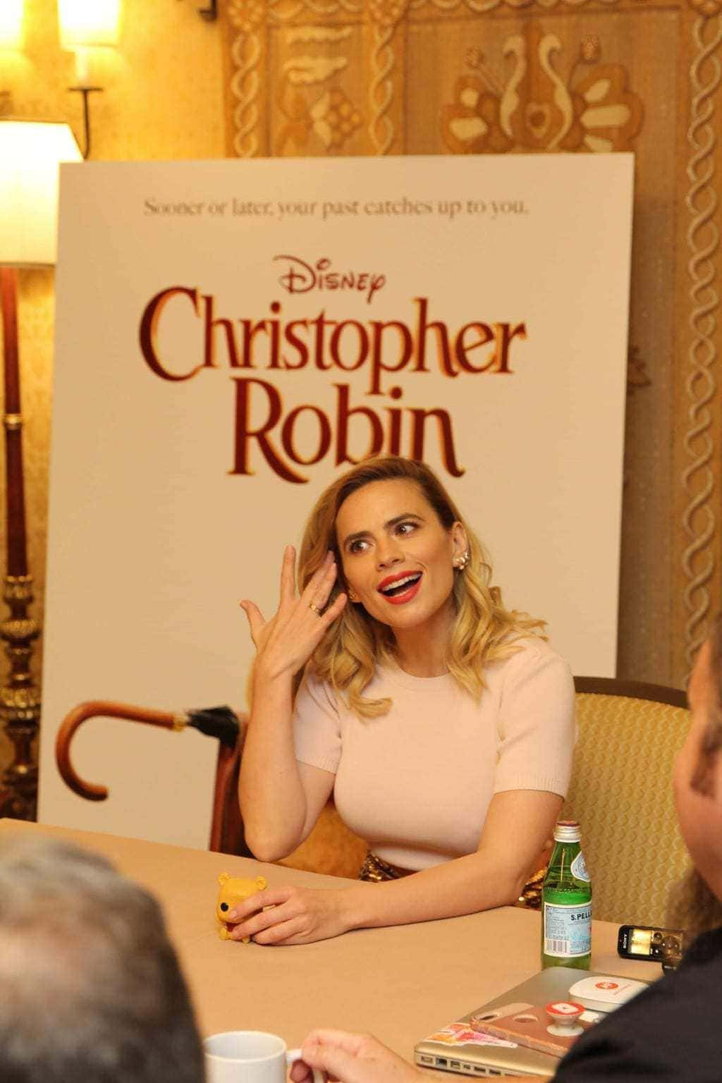interview with hayley atwell, interview with christopher robin cast
