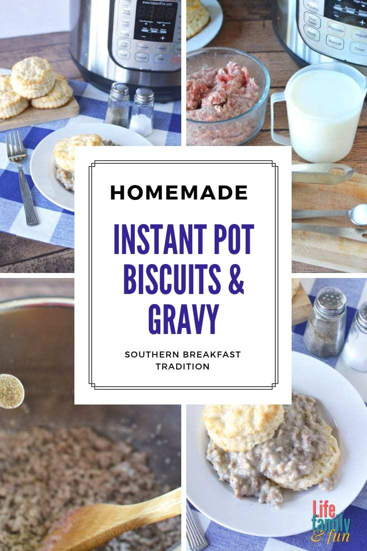 homemade biscuits & gravy in the instant pot, instant pot biscuits gravy