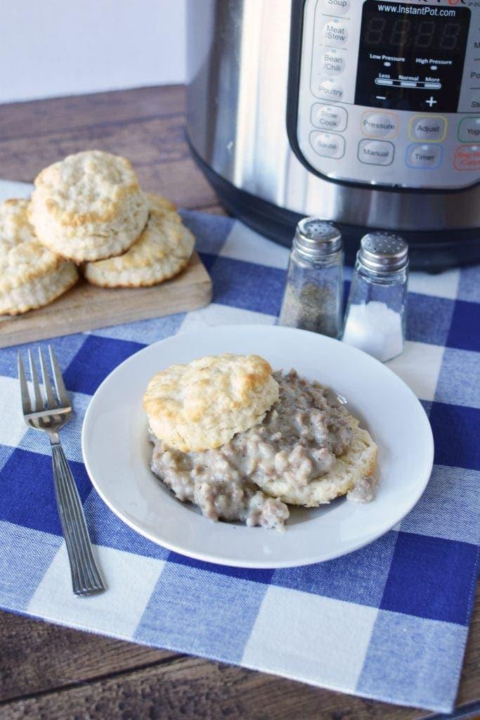Instant Pot Biscuits & Gravy