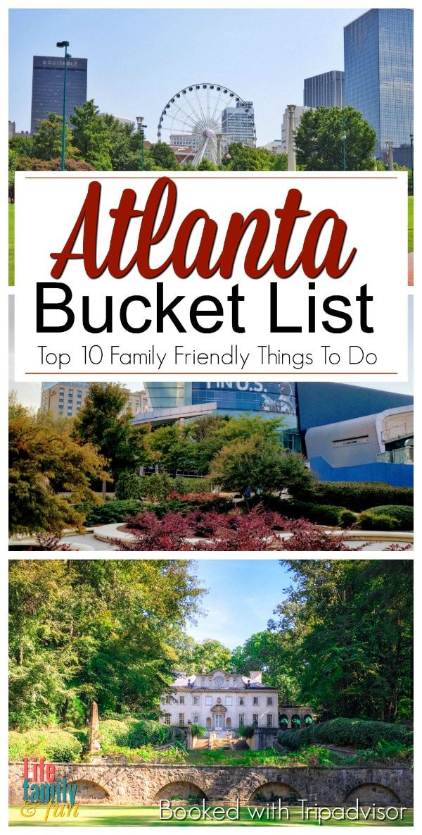 Atlanta Bucket List -Top 10+ Family Fun Things To Do In Atlanta. If you are open to new fun ideas and things to do, here are some great suggestions on how you can spend a day, weekend, or week sightseeing and diving into everything that Atlanta has to offer! #AtlantaTravelGuide #AtlantaFun AtlantaBucketList #TripAdvisorPartner
