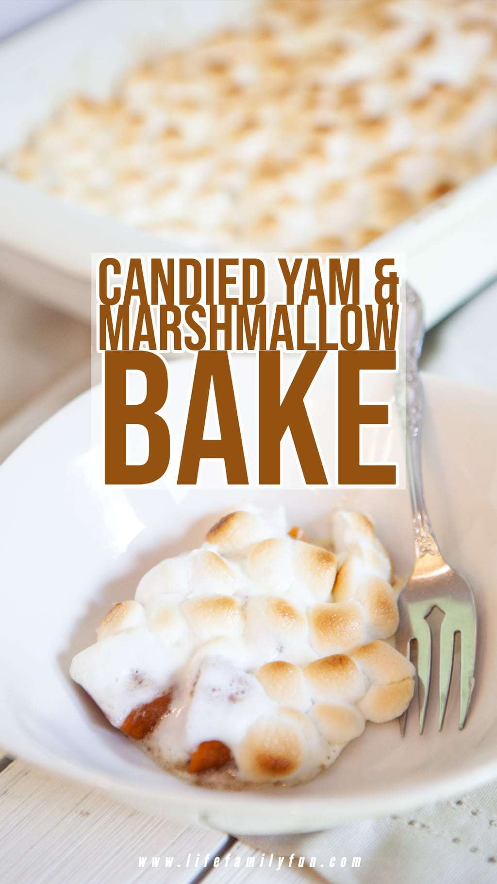 Candied yam and marshmallow bake