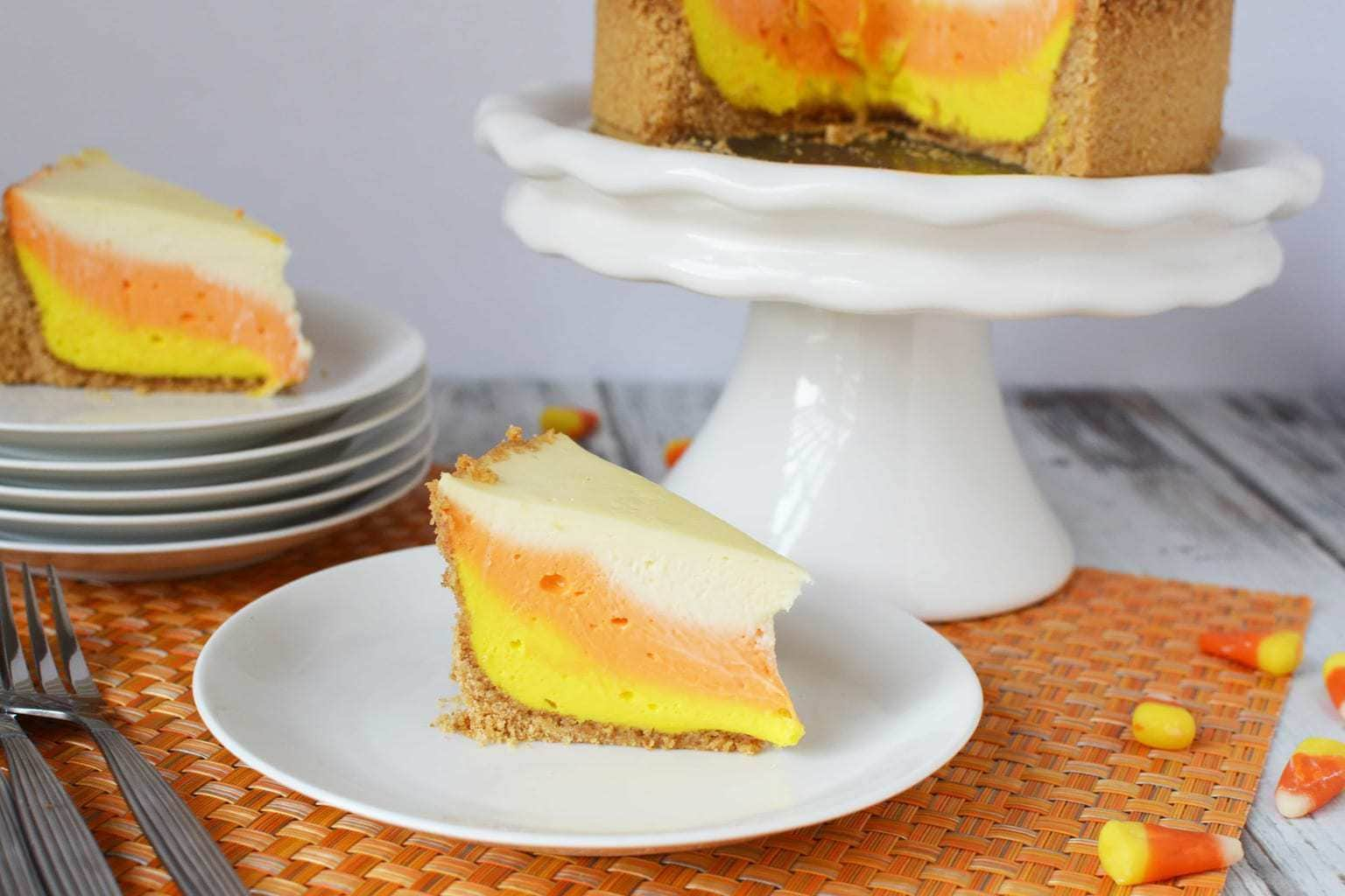 Instant Pot Candy Corn Cheesecake