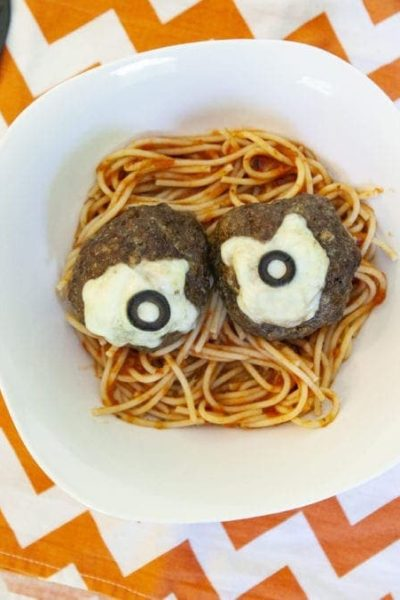 spooky eyeball spaghetti