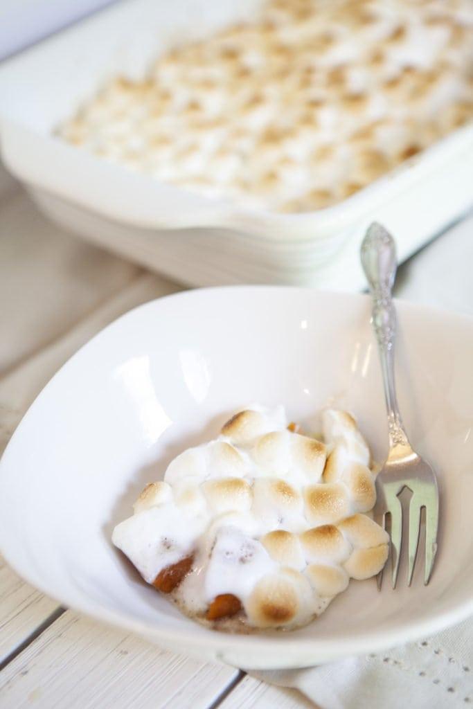 Yam Marshmallow Bake, Candied Yam and Marshmallow, Candied Yam Casserole