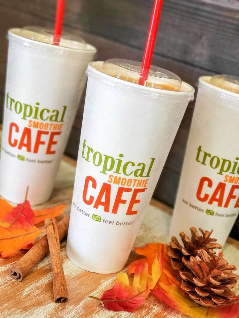 Fall smoothies at Tropical Smoothies