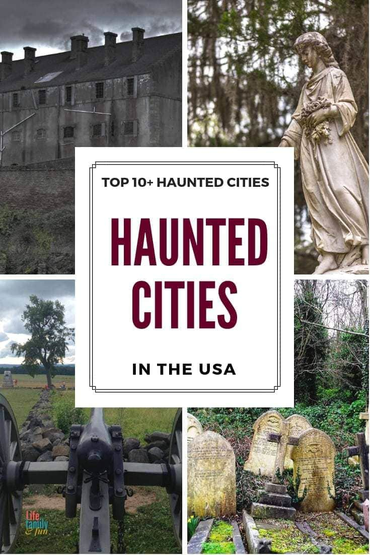 "Here are the Top 10 haunted cities to explore in the US, with some creepy and scary ""haunts"" to check out! Are you brave enough?"