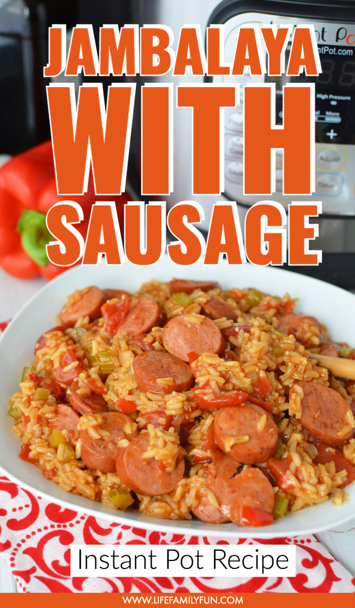 Delicious Instant Pot Jambalaya with Rice and Sausage