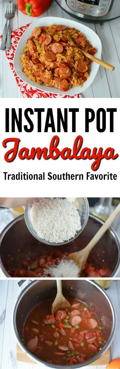 Serve your family this hearty Instant Pot Jambalaya for a hearty Winter dinner. The Southern recipe is one your whole family will love. #InstantPot #IP #JambalayaInstantPot https://www.lifefamilyfun.com/instant-pot-jambalaya/